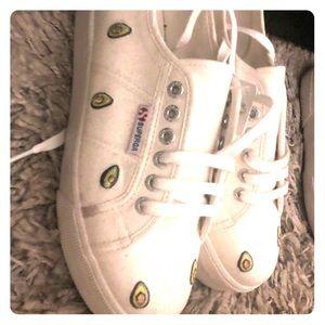 White with Avocado Women's Superga Sneakers